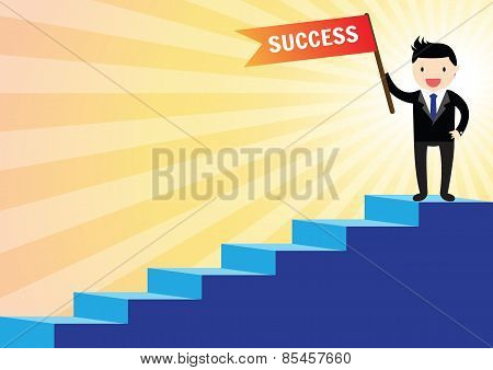 Stairs To Success Concept
