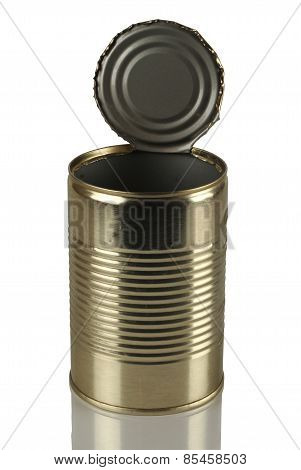 Empty, Open Tin Can
