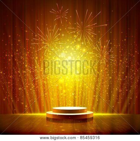 spotlight effect gold scene background
