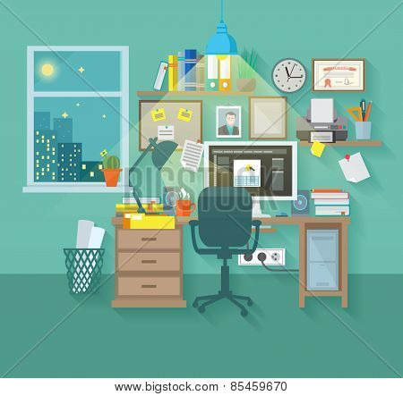 Workspace In Room
