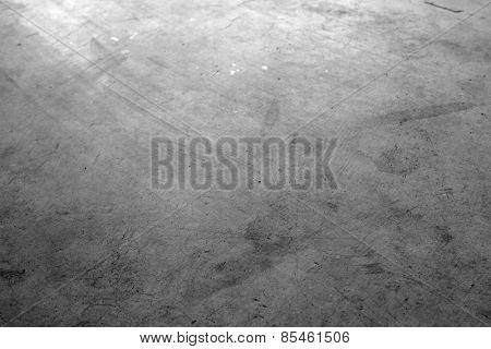Closeup of textured concrete floor