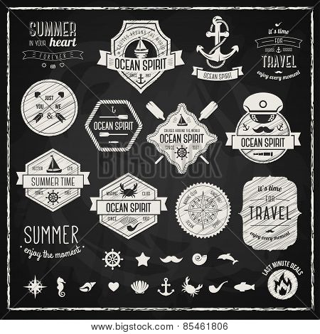 Vintage design elements. Vector illustration.