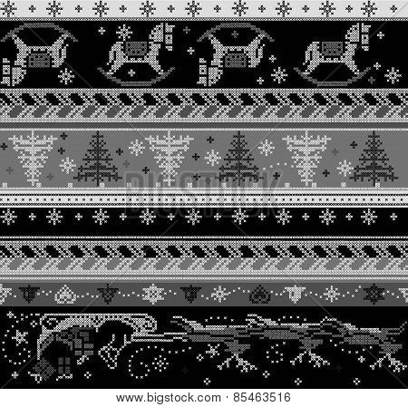 seamless vector knitted pattern.