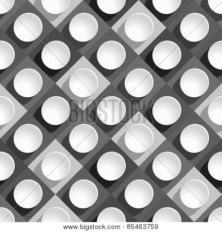 seamless pattern from paper circles