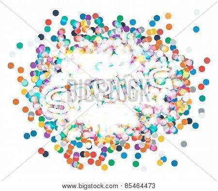 inscription spring confetti