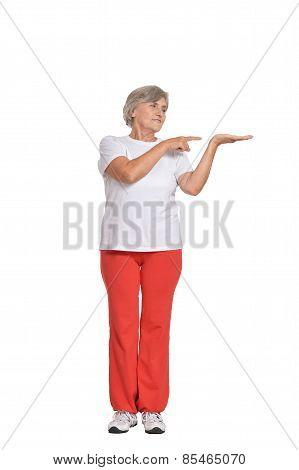 Senior woman in sportswear