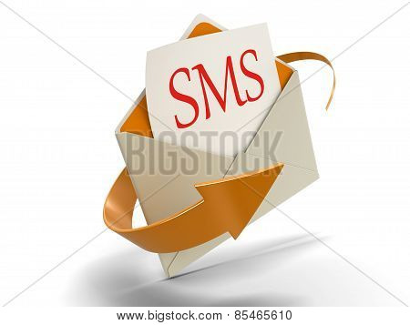 Letter SMS (clipping path included)