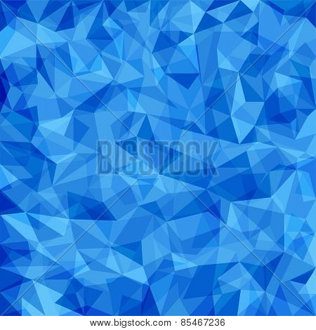 Abstract blue vector mosaic pattern. Vector pattern with paper texture. Vector abstract background
