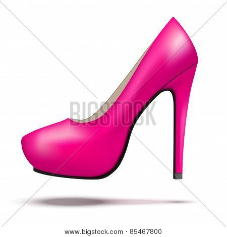 Purple bright modern high heels pump woman shoes