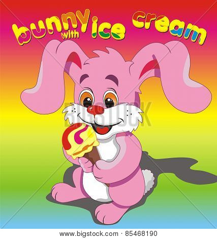 Bunny Ice Cream Pink.eps