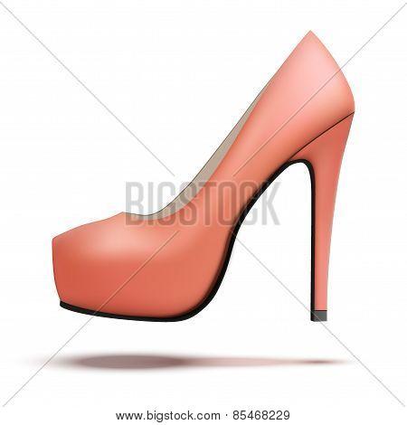 Red vintage high heels pump shoes