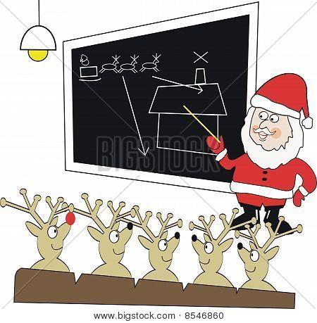 Santa Claus reindeer cartoon