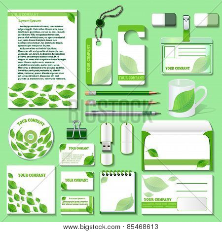 Design Template For Business Objects From An Environmental Theme