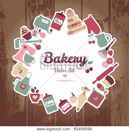 Bakery and sweets abstract illustration