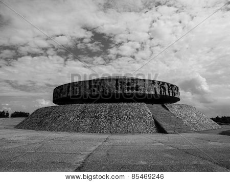 Mausoleum in Majdanek concentration camp