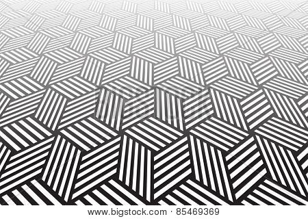 Tiled textured surface. Abstract geometric background. Vector art.