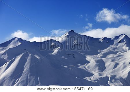 Snowy Sunlight Mountains