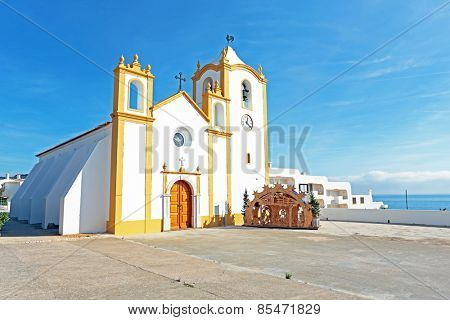 Church of Our Lady of the Light (Nossa Senhora da Luz) in Luz, Algarve, Portugal