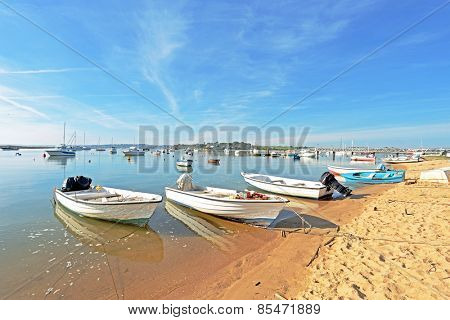 The harbor from Alvor in the Algarve Portugal