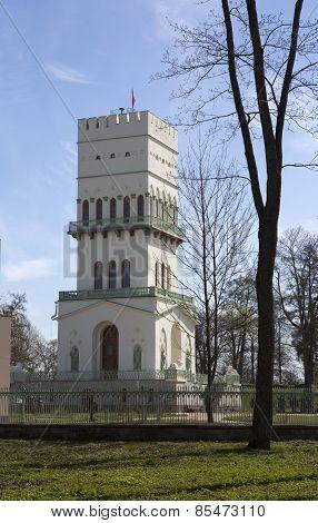 The White Tower in Tsarskoye Selo in Aleksandrovsky park Pushkin Russia