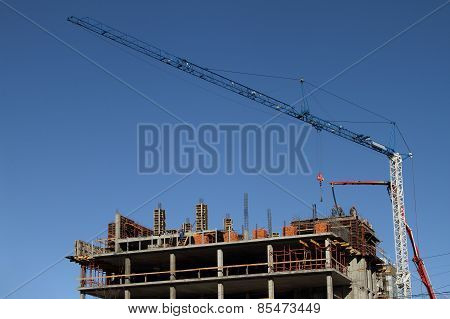 Construction Site And Tower Crane