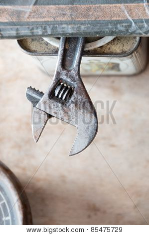 Adjustable Wrench.