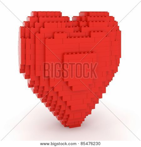 Toy Bricks Red Heart