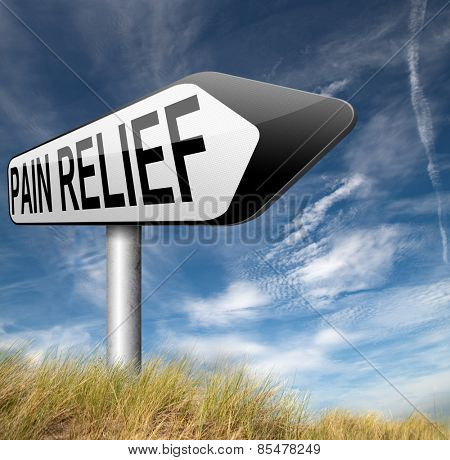 pain relief or management of migraine attack by painkiller or other treatment chronic back pain sign with text