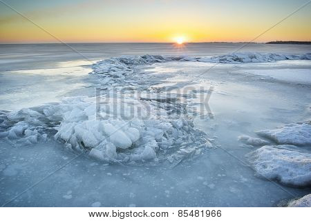 Winter Ice Landscape.