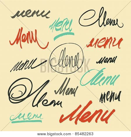 Hand lettering word