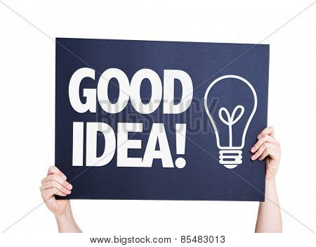 Good Idea card isolated on white background