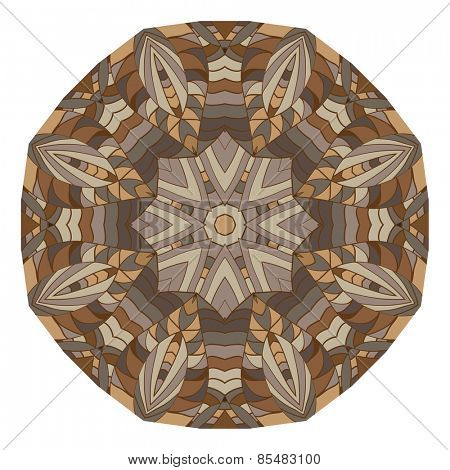 New abstract image with kaleidoscope in brown colors Vector illustration