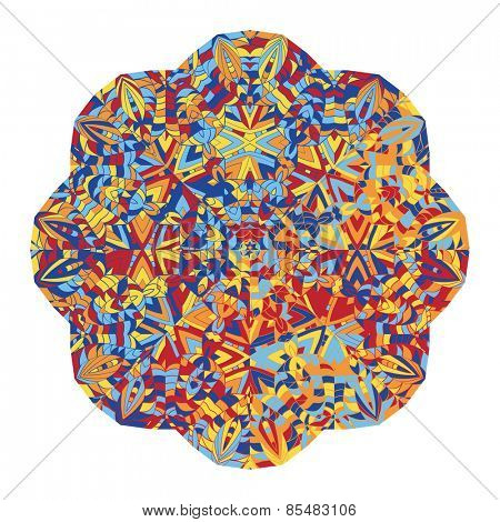 New abstract image with kaleidoscope Vector illustration