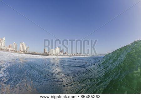 Wave Surfing Durban Landscape