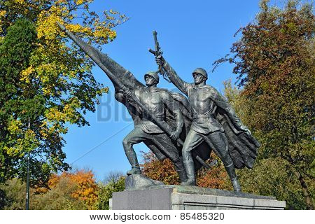 Sculpture Victory. Memorial To 1200 Guards, Kaliningrad, Russia