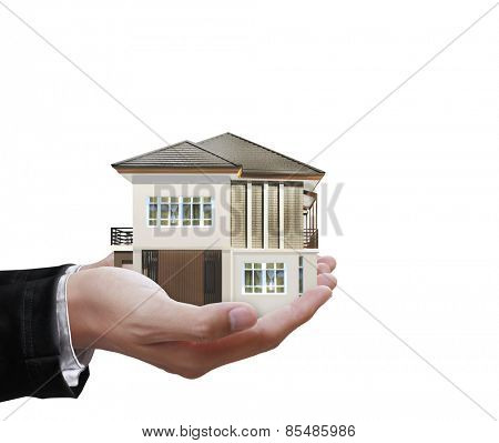 House model concept in the hand