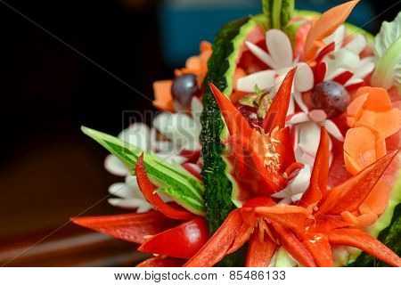 Carved Vegetables Arrangement