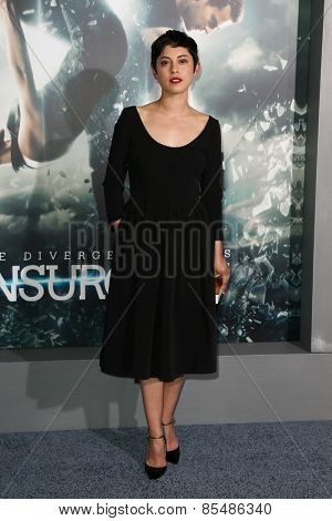 NEW YORK-MAR 16: Actress Rosa Salazar attends the U.S. premiere of