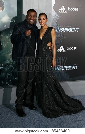 NEW YORK-MAR 16: Actor Mekhi Phifer and wife Reshelet Barnes attend the U.S. premiere of
