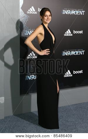 NEW YORK-MAR 16: Actress Shailene Woodley attends the U.S. premiere of