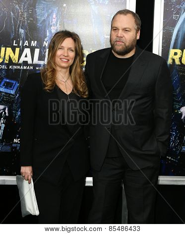 NEW YORK-MAR 9: Actors Carin van der Donk (L) and Vincent D'Onofrio attend the premiere of