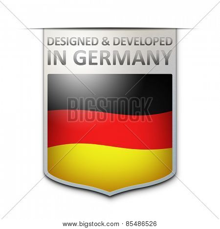 An image of a nice designed and developed in germany badge
