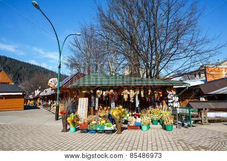The Stall At The Marketplace In Zakopane