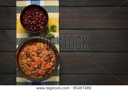 Chili con Carne and Raw Kidney Beans