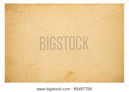 Old Blank Paper Isolated On White Background