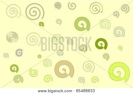 Simple spiral over yellow background