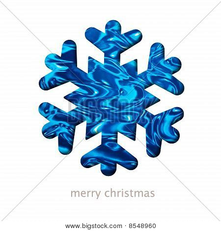 Christmas Card With A Snow Flake Shape Illustration