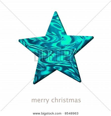 Christmas Card With A Star Shape Illustration