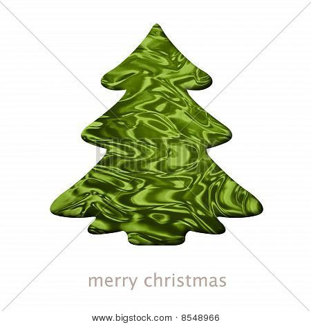 Christmas Card With A Tree Shape Illustration