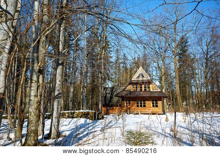 Traditional Wooden House In Zakopane, Poland